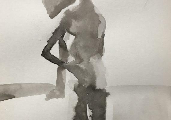 Model in Jims atelier