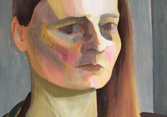 Zelfportret driekwart met vest