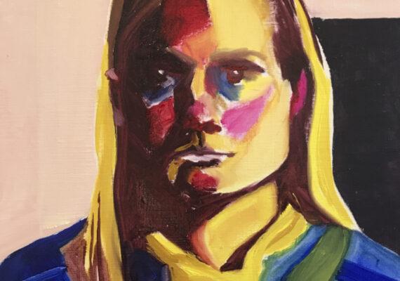 Zelfportret gele kol I