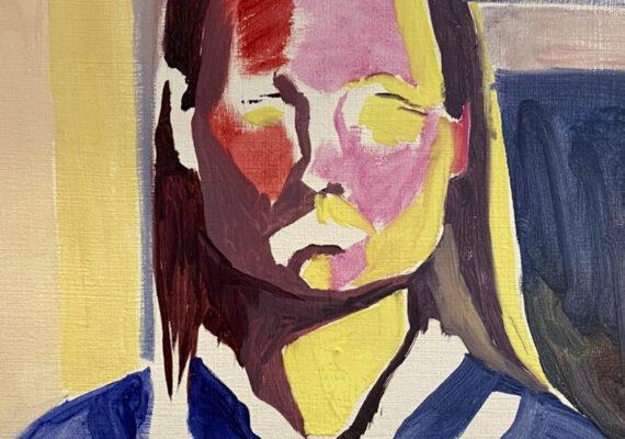 Zelfportret gele kol II