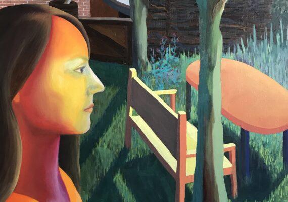 Krista in de tuin